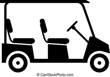 kärra, golf, stor