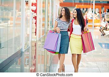 käufer, einkaufszentrum