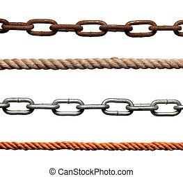 kæde, strenght, slaveri, reb, sammenhænge, forbindelsen