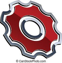 kædehjul, vektor, skinnende, 3