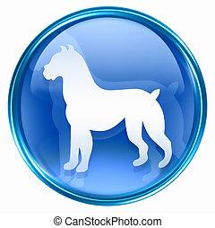 kék, állatöv hím, ikon
