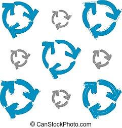 kék, állhatatos, egyszerű, multimédia, korszerűsíteni, felfrissít, elszigetelt, icons., háttér, hand-drawn, symbols., gyűjtés, cégtábla, fehér, hand-painted, navigáció, rajz, ismétel, ecset