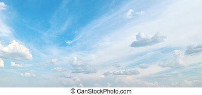 kék ég, elhomályosul, fehér