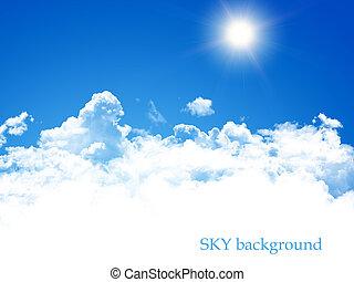 kék ég, háttér