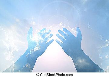 kék ég, kéz