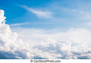 kék ég, noha, felhő, háttér