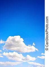 kék ég, white felhő