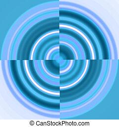 kék, örvény, karika, -