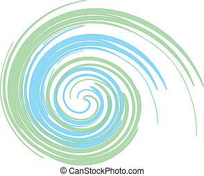 kék, örvény, zöld