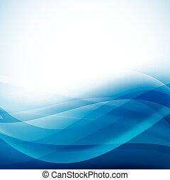 kék, összecsukható, elvont, vektor, háttér, waves.