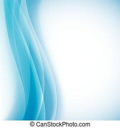 kék, összecsukható, fény, vektor, háttér, waves.
