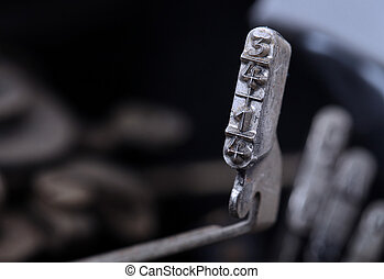 kék, 1/4, öreg, -, kézikönyv, szűr, 3/4, hideg, kalapács, írógép