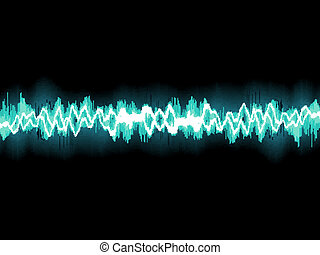kék, 8, elvont, waveform., eps