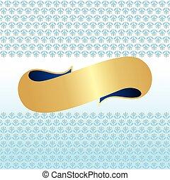 kék, &, arany-, szalag