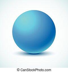 kék, ball.