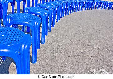 kék, chair., műanyag