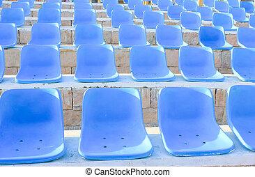 kék, chairs.