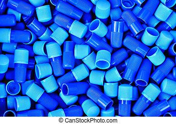 kék, csövek, műanyag