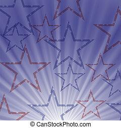 kék, csillagos, háttér, lenget