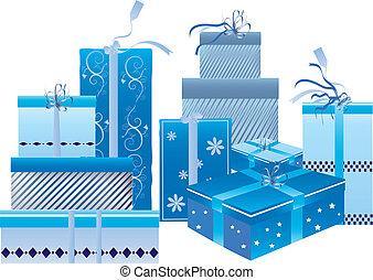 kék, dobozok, állhatatos, tehetség