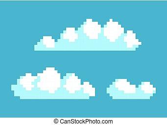 kék, elhomályosul, ég, ábra, vektor, fehér, fénykép