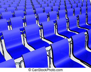 kék, elnökké választ, találkozó, sötét, előszoba, evez