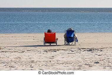 kék, elnökké választ, tengerpart, narancs
