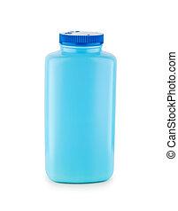 kék, elszigetelt, palack, műanyag