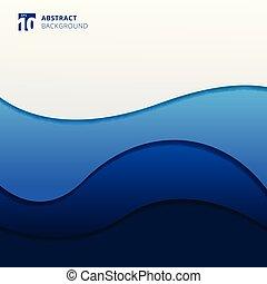 kék, elvont, ábra, háttér., vektor, lenget