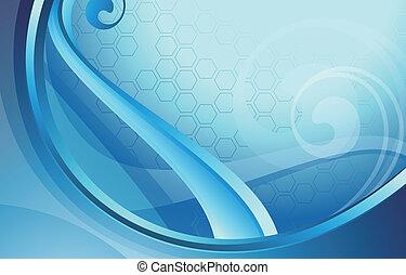 kék, elvont, ív