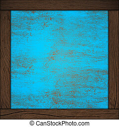 kék, elvont, fa keret, háttér