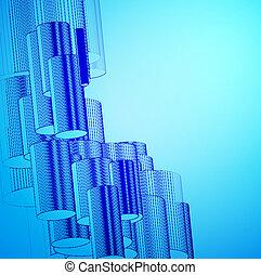 kék, elvont, háttér, design.