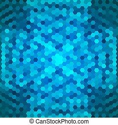 kék, elvont, háttér, hatszögek