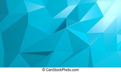 kék, elvont, poly, alacsony, háttér