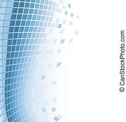 kék, elvont, repülés, ábra, particles., vektor, háttér, mózesi