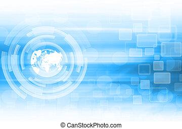 kék, elvont, technológia, háttér