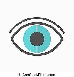 kék, elvont, vektor, szem