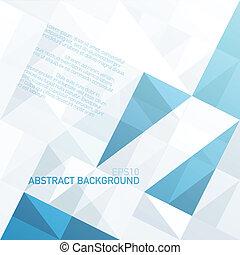 kék, eps10, hely, elvont, geometrikus, message., vektor, háttér, -e, háromszögek