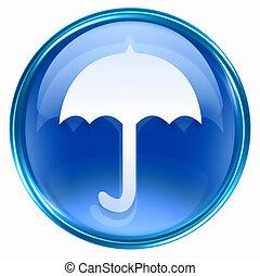 kék, esernyő, ikon