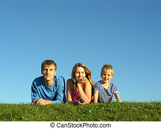 kék, fűszernövény, ég, család, alatt