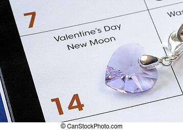 kék, február, elszigetelt, 14, valentin nap