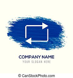 kék, -, felfrissít, vízfestmény, háttér, ikon