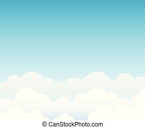 kék, felhő, ég