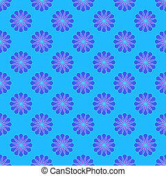 kék, floral példa, háttér, fény