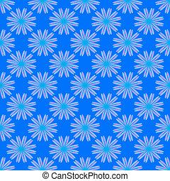 kék, floral példa, háttér, seamless