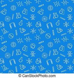 kék, fogalom, motívum, seamless, vektor, kémia