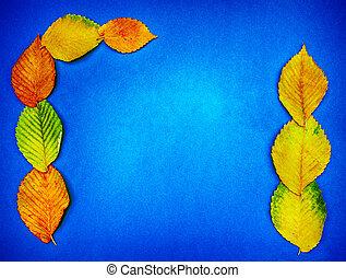kék, forma, hely, zöld, többszínű, ősz, háttér, geometriai, másol, stacked.