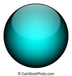 kék, gömb