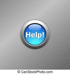 kék, gombol, segítség
