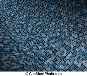 kék, grunge, render, konkáv, felszín, görbe, mózesi, 3